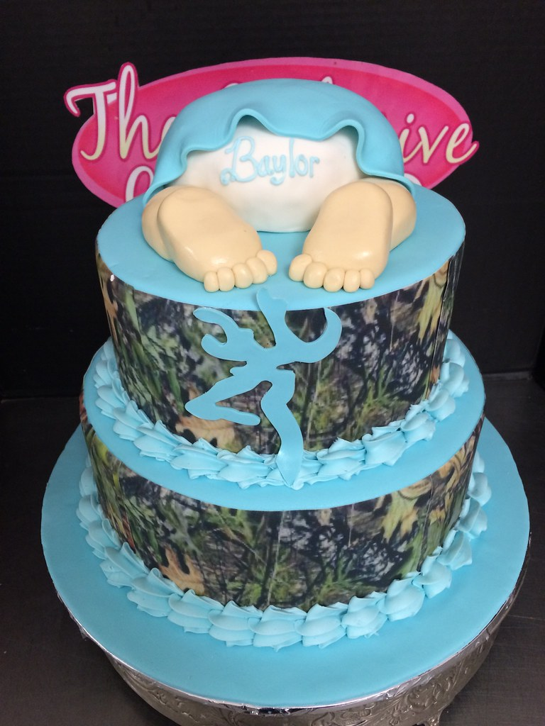 Camouflage Baby Shower Cake  Camouflage Baby Shower Cake  Flickr