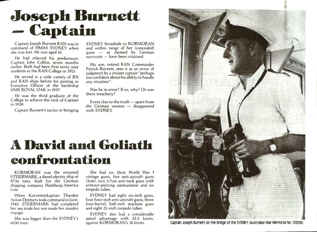 HMAS SYDNEY II SPECIAL Captain Joseph Burnett on the br