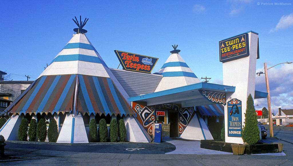 Twin TeePees  Seattle  Washington  Gone but not