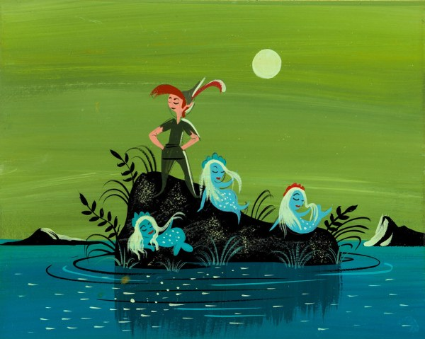 Mary Blair Peter Pan Mermaid Concept Art