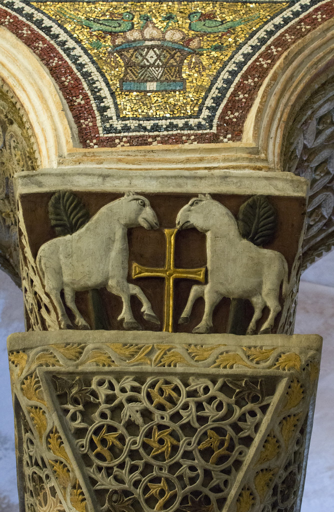 San Vitale capital  Gorgeous Byzantine details from the
