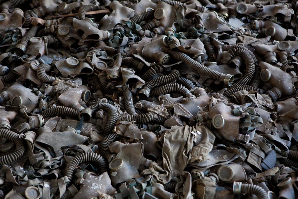Pripyat Ukraine  Evacuated town near Chernobyl Gas