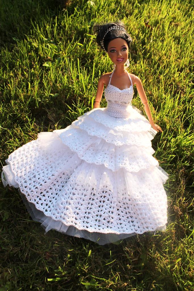 Wedding Dress For Doll Bride Crochet Wedding Dress