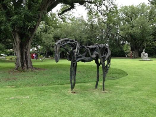 Deborah Butterfield, Restrained, 1999, Sydney and Walda Besthoff Sculpture Garden