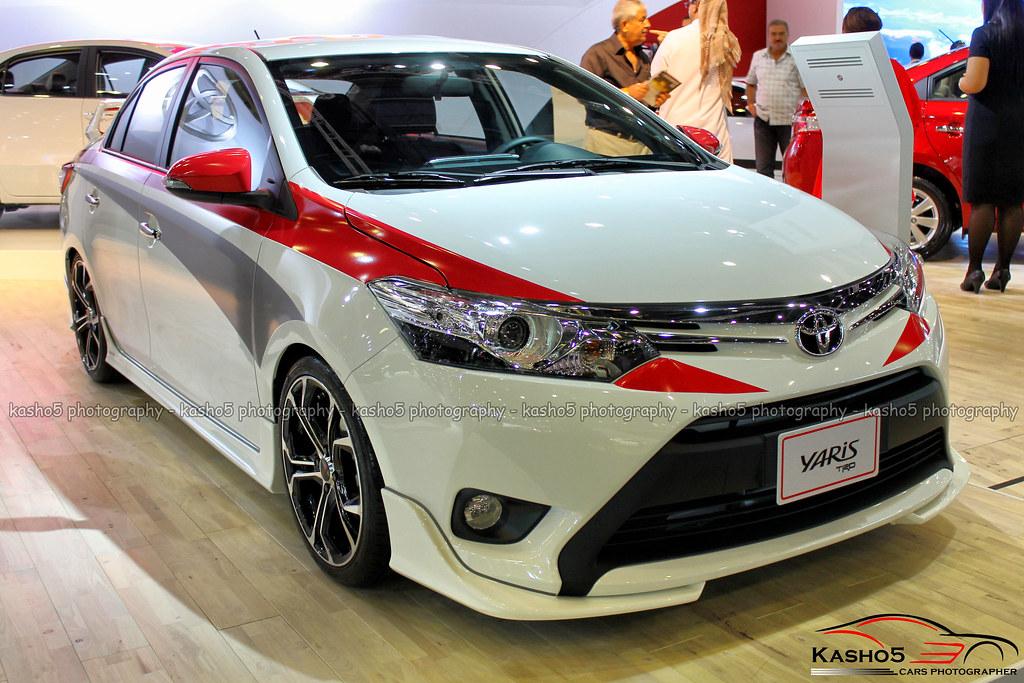toyota yaris trd white jok all new 2014 s 2017 ototrends net sport modified bodykit spoiler
