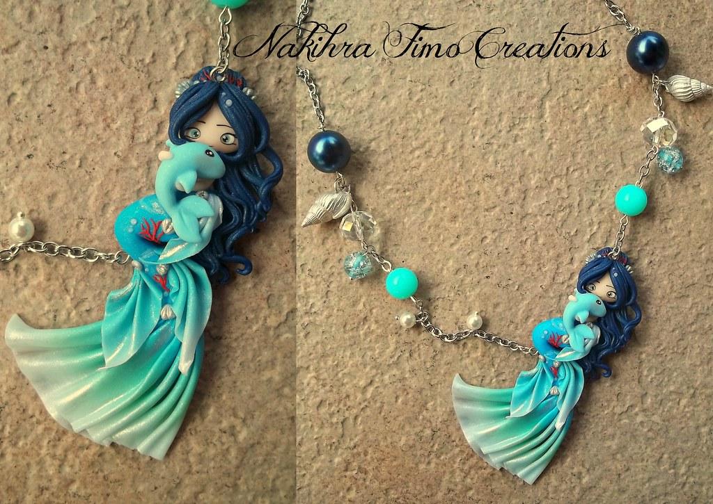 Oceans Mermaid Polymer Clay  Handmade Oceans Mermaid