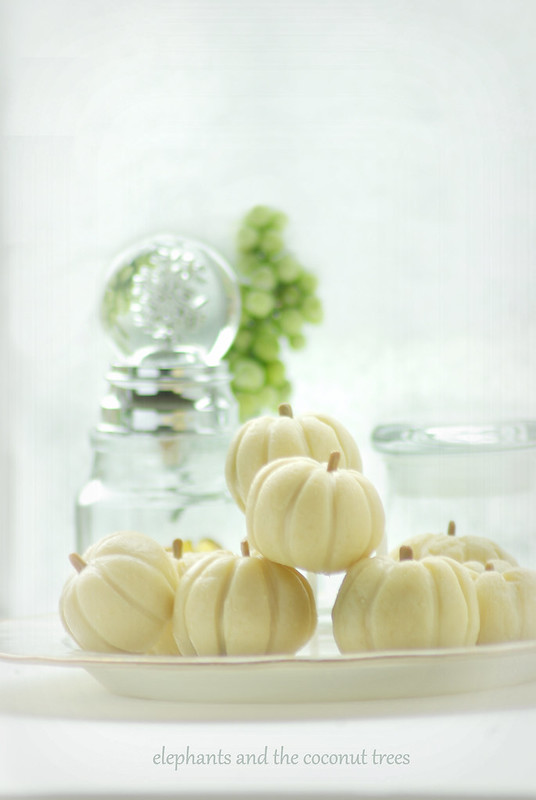 Mini White Pumpkin Milk Fudge with Dry fruit Filling.Soft and chewy