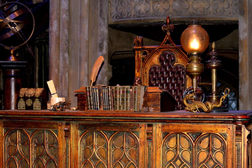 Dumbledores Office desk  Warner Brothers Studio Tour