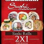 sushi roll 2x1 PROMOTION benihana la gran via - 28ago14