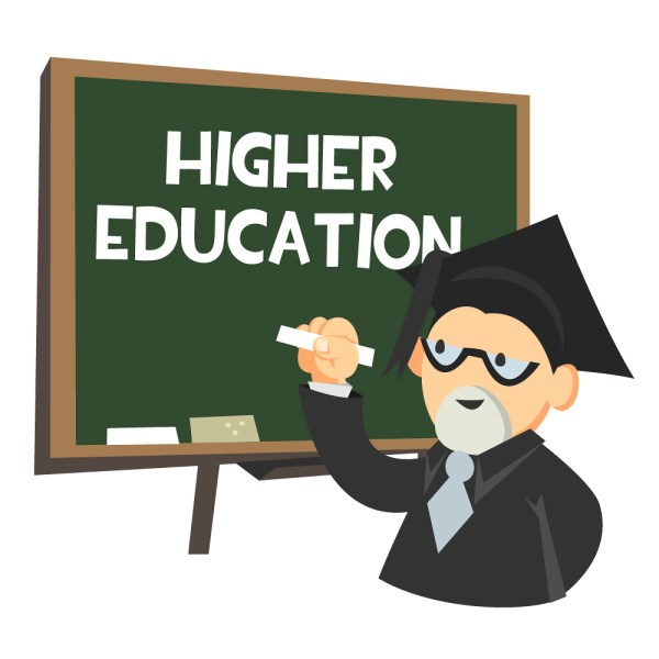 Higher Education Chalkboard Illustration Of Professor