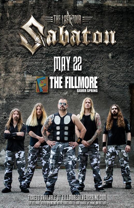 Sabaton at Fillmore Silver Spring