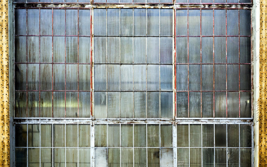 Factory Windows  Glass windows at a turbine factory in