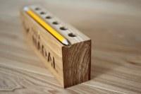 Wooden desk organizer, pencil holder #1   Wooden desk ...