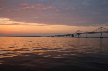 Photo of Bay Bridge at dawn