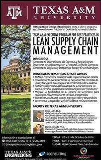 Lean supply chain managment TEXAS A&M university