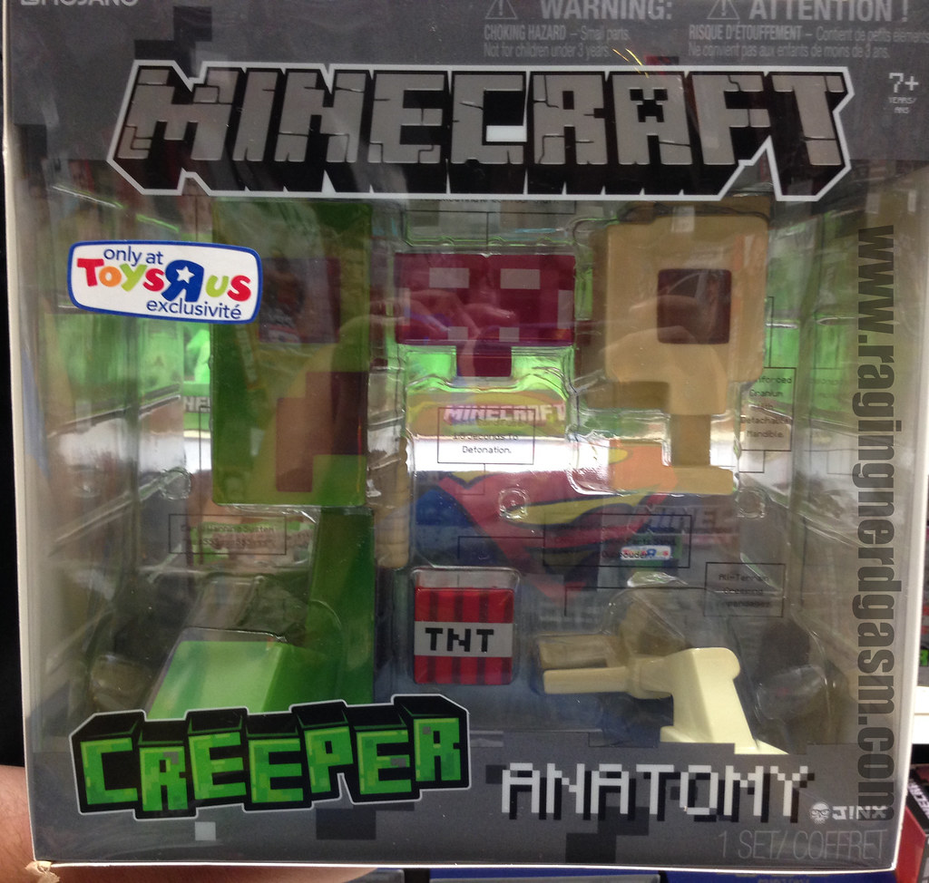 Mojang Minecraft Toys R Us Exclusive Creeper Anatomy 1
