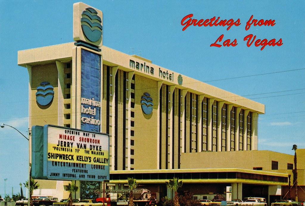 RETRO LAS VEGAS 1970s Marina Hotel  Casino Postcard  Flickr