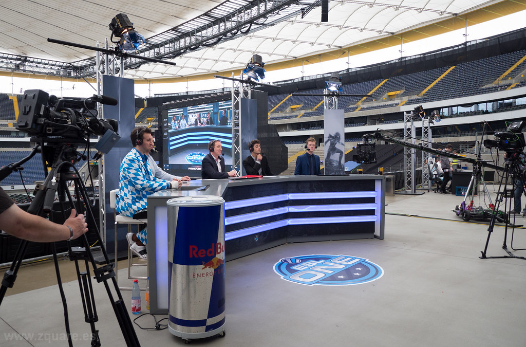 Behind the scenes casters desk  ESL One Frankfurt 2014
