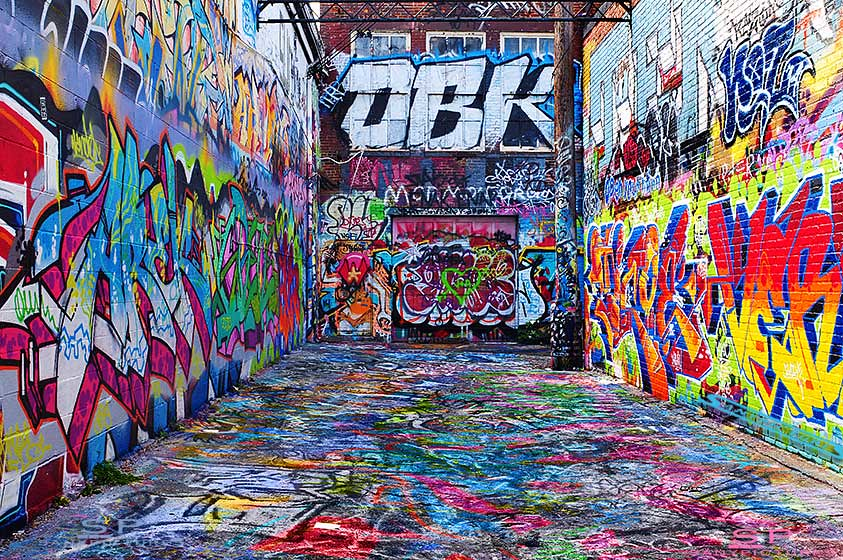 3d Brick Mural Wallpaper Graffiti Alley Maryland 169 Sanypictures All Rights