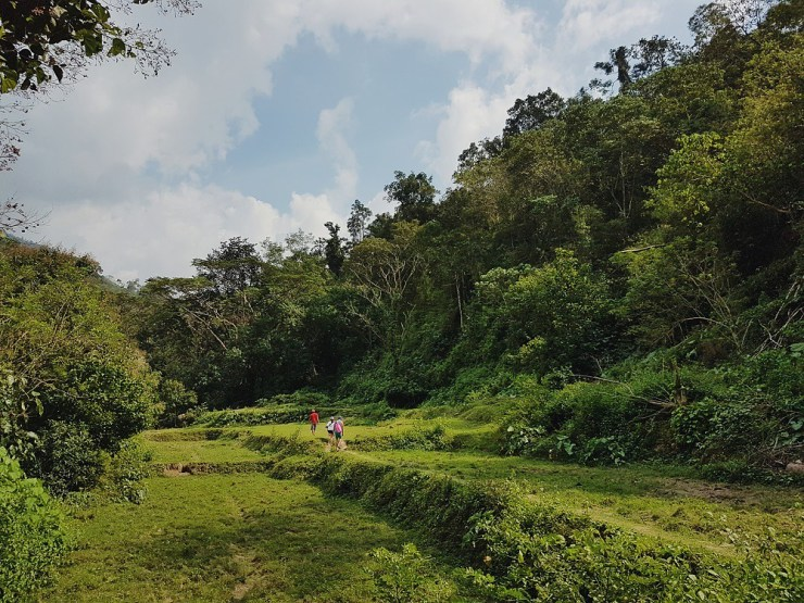 trekking to tangadan falls