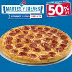 Disfruta de todas las pizza dominos con 50 OFF