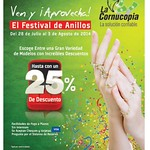 Festival de anillo DESCUENTOS la cornucopia - 25jul14