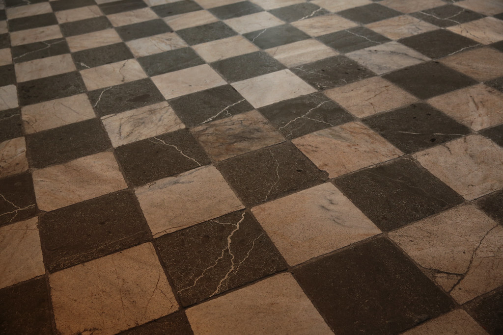Marble and Granite Checkerboard floor  Old Royal Palace