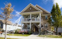 Giant Spider Web Halloween Decorated House | Halloween ...