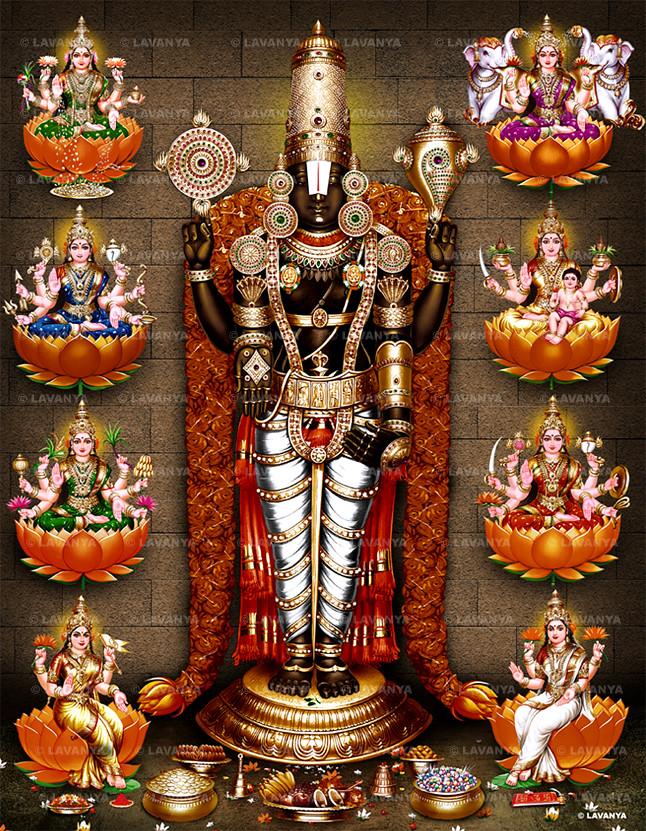3d Laxmi Mata Wallpaper Album No 44 Nijapadam Astalakshmi Balaji Images
