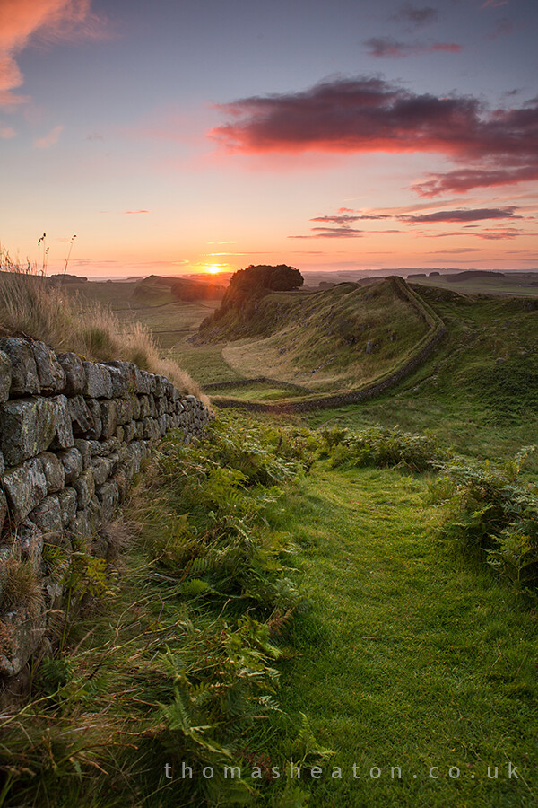 Hadrians Wall  Sunrise  One of my images from a recent