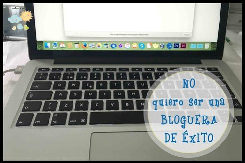 No ser una bloguera de éxito