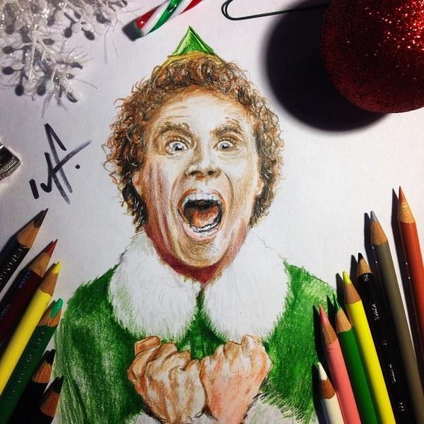 #buddytheelf #drawing In #prismacolor #pencil