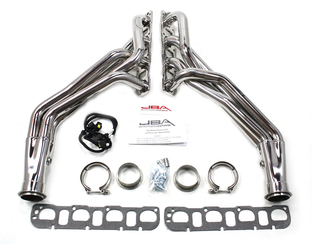Jba Polished Longtube Headers Challenger