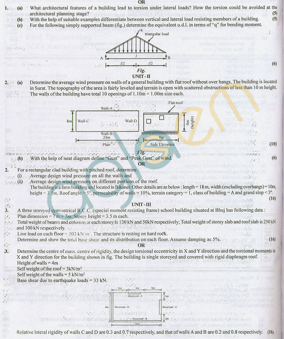 RTU: Question Papers – 5 Semester – CE