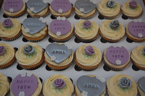 Silver And Lilac Birthday Cupcakes Beautiful Birthday Cakes