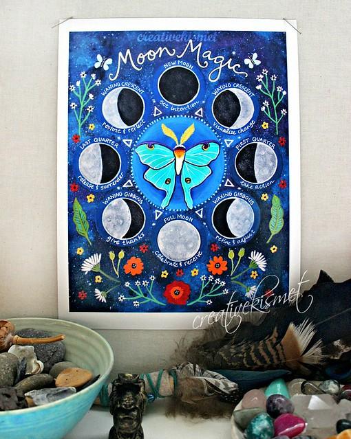 Moon Magic Art by Regina Lord