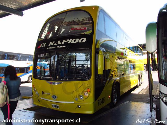 El Rápido Internacional | Santiago | Metalsur Starbus 2 - Scania / OXG574 - N° 7045