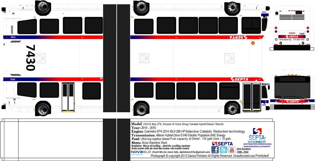 Septa Nova Bus 40ft and 60ft  Darius Pinkston  Flickr
