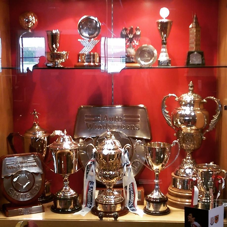 The Stoke City trophy cabinet We won it two times we win
