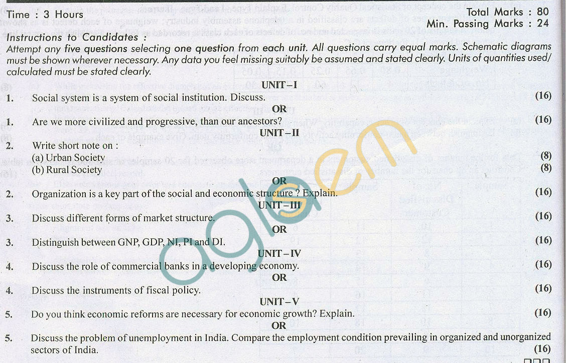 RTU: Question Papers 2014 – 5 Semester - ME - 5E6205