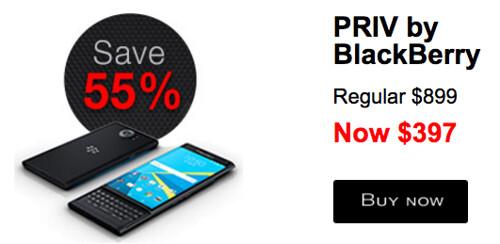 Un 55% de descuento, ofrece BlackBerry por el PRIV, con Android OS.