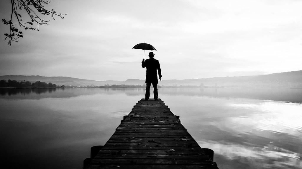 The Umbrella Man 01 A Selfie Project Thomas Leuthard