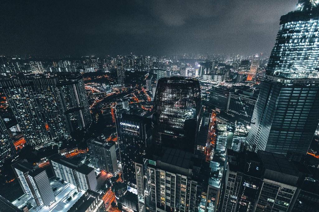 Imagen gratis de Singapur de noche