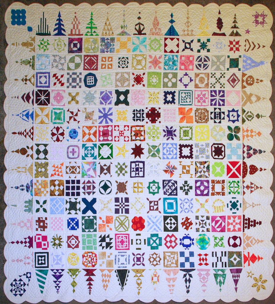 "Karen's first ""Dear Jane"" quilt ""Insanity"""