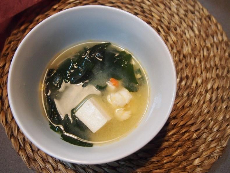 Sopa miso con bogavante