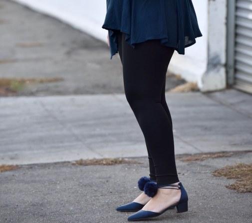Tunic, Leggings, Pom Pom Shoes
