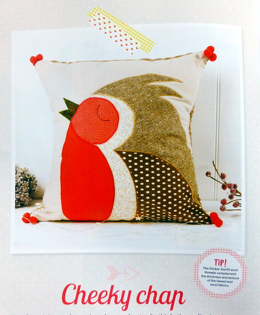 Christmas Robin (mixed textiles) for Pretty Patches (Dec16)
