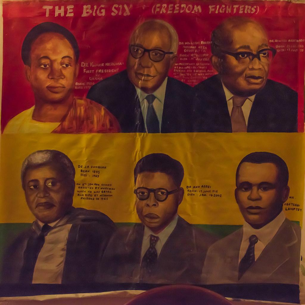 The Big Six(ghana, The Six Foundersleaders Of The Uni