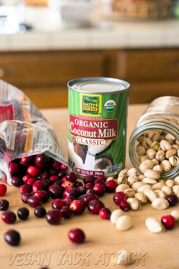 Cranberries // Coconut Milk // Pistachios