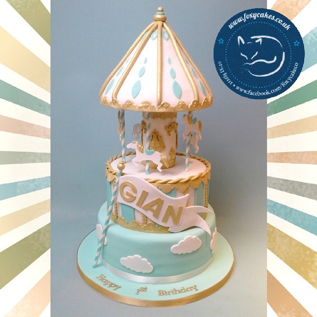 Our Magical Merry Go Round 1st Birthday Cake Cake Thefo
